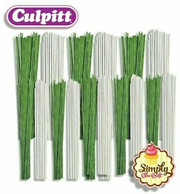 £3.45 • Buy  Florist Wire For Sugarcraft Cake Decorations & Flowers White & Green