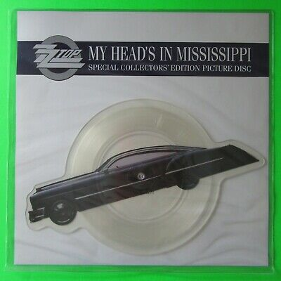 ZZ TOP - My Heads's In Mississippi - Shaped Picture Disc W0009P (1991) UNPLAYED • 17.95£