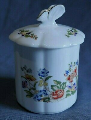 £6 • Buy Aynsley Cottage Garden Lidded Pot /  Dish With Butterfly Handle
