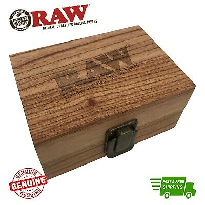 £12.99 • Buy RAW Wood Rolling Stash Gift Box Classic Magnetic Divider Storage Box Gift