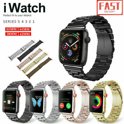 AU10.99 • Buy For Apple/Watch IWatch Band Series 5 4 3 2 1 Metal Stainless Steel Strap 38-44mm