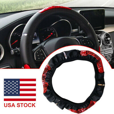 $7.59 • Buy 15inch/38cm Anti-slip PU Leather Car Steering Wheel Cover Protector Accessories