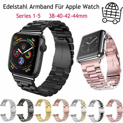 AU10.99 • Buy For Apple Watch Band IWatch Band Series 5 4 3 2 1 Magnetic Stainless Steel Strap