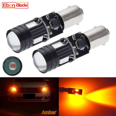 AU19.99 • Buy 2Pcs BAX9S H6W LED Car Lights Amber Orange Canbus Indicator Side Parker Bulb 12V