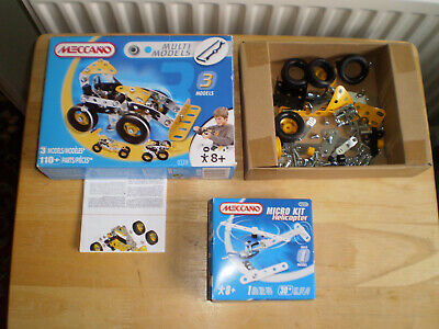 X2 Meccano Kits Car And Helicopter Micro Kit Which Is Unopened • 11.99£
