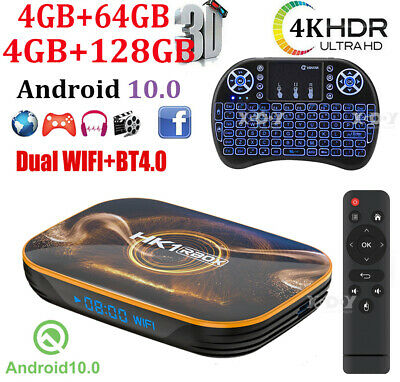 AU79.69 • Buy HK1 R1 4+128G Android 10.0 Dual WIFI BT 4K TV BOX Keyboard HDMI Media Streamer