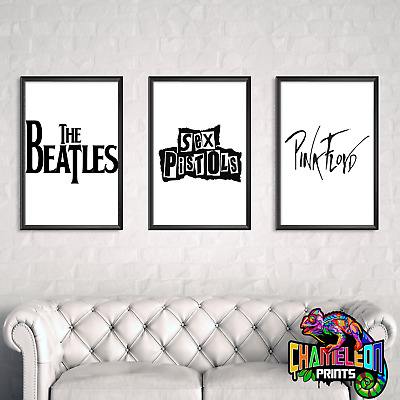 Famous Music Artists Black And White Wall Art Classic Rock Art Various Artists • 5.99£