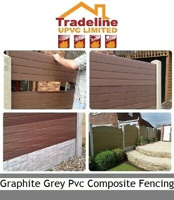 £16.85 • Buy Graphite Grey Upvc Plastic Fence Panels Fit Them Into Your Existing Posts.