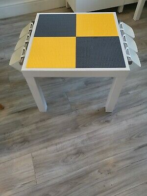 Lego Table Brand New Yellow And Grey Base Plate Organised Lego Play Set Up • 45£