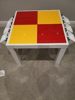 Lego Table Brand New Red And Yellow Base Plate Organised Lego Play Set Up • 45£