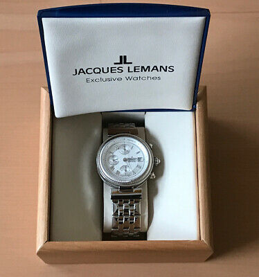 $539 • Buy Jacques Lemans Valjoux Watch Stainless Steel W/ 7750 Movement (PayPal Only)
