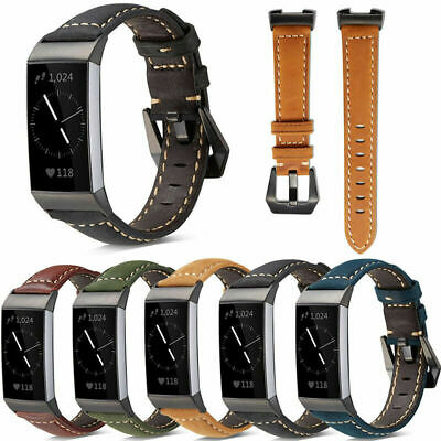£8.50 • Buy For Fitbit Charge 3 4 Luxury Leather Replacement Wrist Watch Band Strap UK