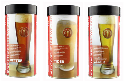 Young's 40 Pints BrewBuddy Kit - Bitter Cider Lager - Home Brewing Beer P&P UK • 22.99£