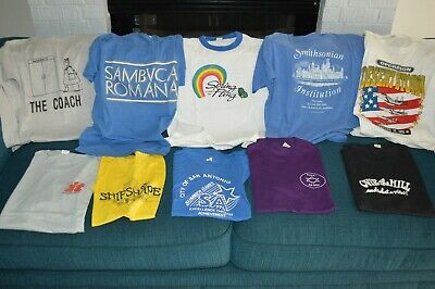 $ CDN115.39 • Buy Vintage T-Shirt LOT Of 10 ALL 80s Screen Stars Tags! Rainbow Ringer Smithsonian