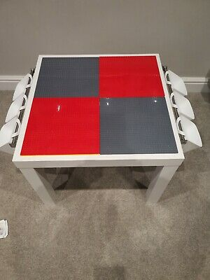 Lego Table Brand New Red And Grey Base Plate Organised Lego Play Set Up • 45£