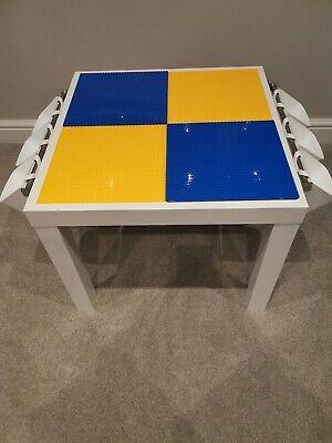 Lego Table Brand New Blue And Yellow Base Plate Organised Lego Play Set Up • 45£