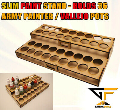 Paint Stand Station Rack For Army Painter & Vallejo Paints Holds 36 Pots (SLIM) • 9.99£