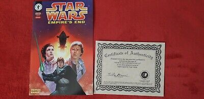 Star Wars Empires End #1 Signed Comic • 25£