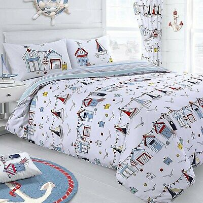 Nautical Reversible Duvet Cover Set - Striped Quilt Cover Set - Shaws Direct • 12.95£