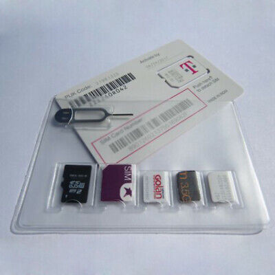 SIM Card Holder Storage Case For 5 Micro Sizes SIM Cards And Iphone Eject UK • 1.37£