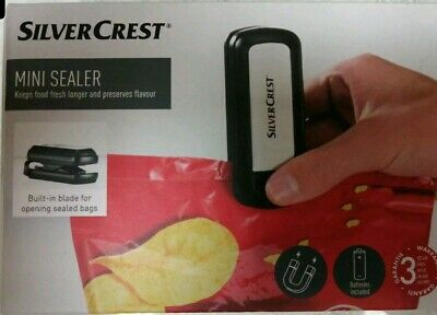 Silvercrest Top Quality Mini Handheld Plastic Packing Bag Sealer And Cutter - UK • 8.99£