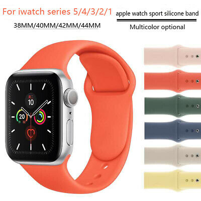 $ CDN4.89 • Buy 38/42/40/44mm Silicone Sports Band IWatch Strap For Apple Watch Series 5 4 3 2 1