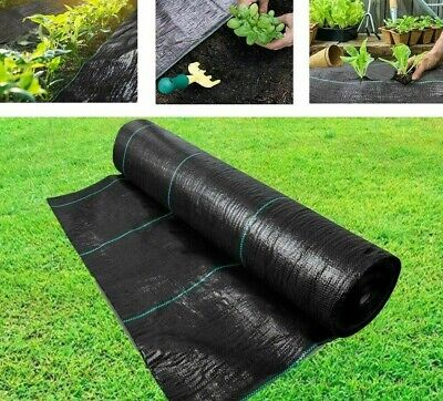 £18.99 • Buy Heavy Duty Weed Control Fabric Membrane Garden Ground Cover Mat Landscape 100gsm