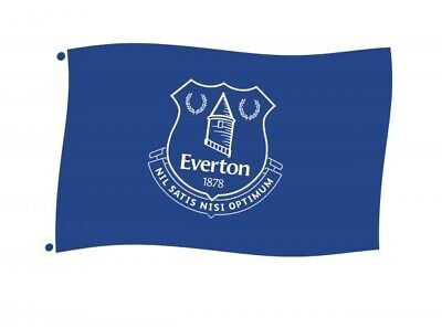 £8.45 • Buy Everton Football Club Official Core Blue Large Flag 5 X 3 Logo Badge Crest