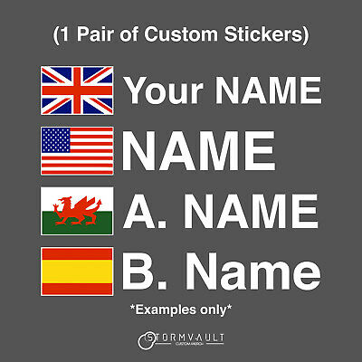 Motorsport UK Driver Name Stickers With Flags - MSA Race Rally Car Decal Vinyl • 4.99£
