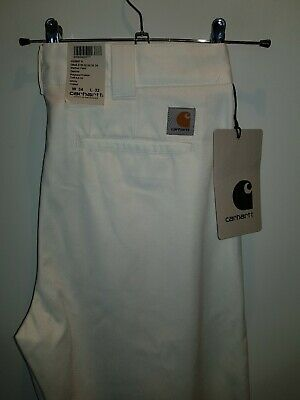 Stylish White BNWT Mather Pant By Carhartt W34 L32 RRP £90! Very Smart! • 38£
