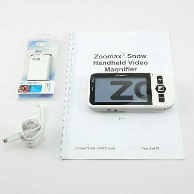 ZOOMMAX SNOW 4.3  | Portable Electronic Video Magnifier - Vision Assistant • 159.95£