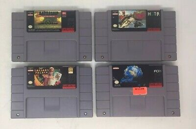 $ CDN27.99 • Buy Lot Of 4 Snes Games, SimEarth, Caesars Palace, Super Battleship, Etc...