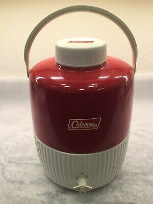 $25 • Buy Vintage Coleman 2 Gallon Insulated Jug Red Picnic Camping Water Cooler