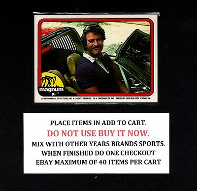 $2 • Buy 1983 Donruss Magnum Pi  - Clean Cards - Select Cards From Our List