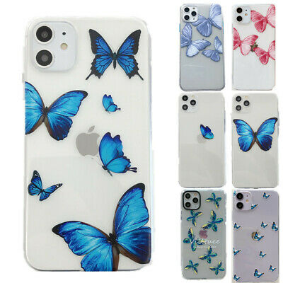 AU4.50 • Buy Cute Butterfly Soft Clear Case Cover For IPhone 11 Pro Max XS XR X 8 7+ SE 2020