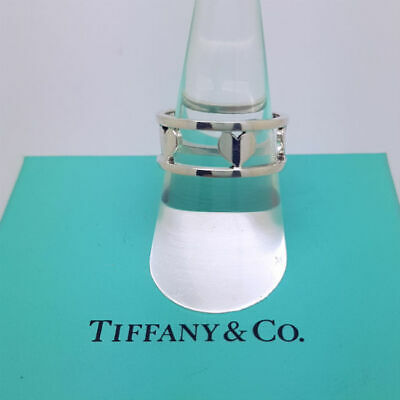 Tiffany & Co Ring - Solid Sterling Silver Hearts Ring - Genuine, Mint • 199£
