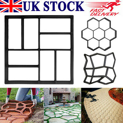Garden Paving Pavement Mold Patio Concrete Stone Path Walk Maker Reusable Mould • 13.99£