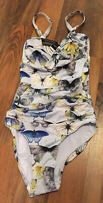 Next Butterfly Design Swimming Costume Size 8 Tall RRP £25 BNWL • 12£