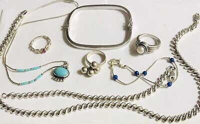 $ CDN99.32 • Buy Mixed Lot 925 Sterling Silver Italy San Marco Set Pollack Bracelet Rings