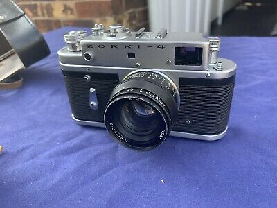 Vintage Zorki-4 35mm Film Camera, Leather Case, Jupiter-8 2/50 Lens • 55£