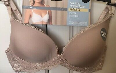 £6.49 • Buy Bnwt M&s Non Wired Memory Foam Perfect Fit Plunge T-shirt Bra 32a