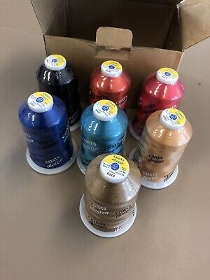 $22 • Buy Coats Embroidery Machine Thread Viscose Rayon Lot Of 7 Colors