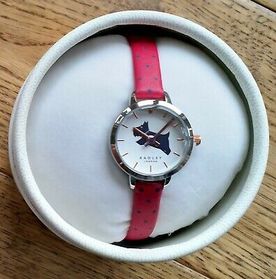 $62.03 • Buy Radley Ladies Silver Watch RY2913A - Red Leather - New Unused In Box - RRP £90