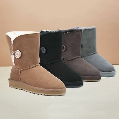 AU55.19 • Buy 【ON SALE】UGG Selected Short Button Boots Double Face Australian Sheepskin