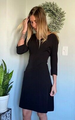 $ CDN132.88 • Buy MM Lafleur Alexandra Black V Neck Dress Pockets Size 14