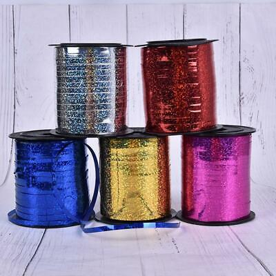 Holographic Balloon Foil Curling Ribbon Gifts Bouquets String Tie Party RiboonUK • 2.99£