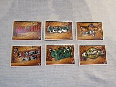 6x WWE Slam Attax Rebellion Pay Per View Topps Cards • 2.99£