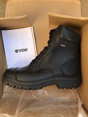 YDS Goretex Boots Size 8 Steeltoe Cap Police/Military Boots • 69.99£