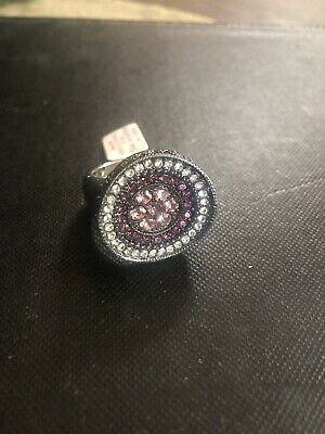 $ CDN25.06 • Buy Lia Sophia Ring Silver Purple Size 10