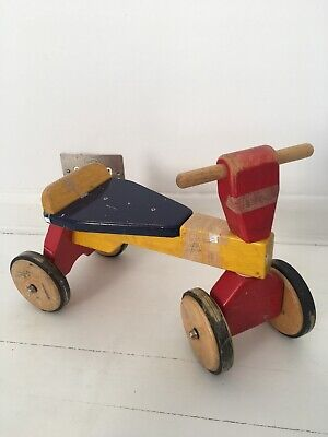 £18 • Buy PinToy Bike Ride On 2 Sit-On Toddler's Child Kid Wooden 4 Wheel Scooter